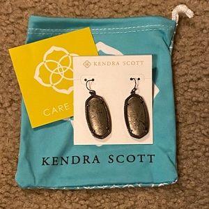 Kendra Scott Gunmetal & Pyrite Elle Earrings